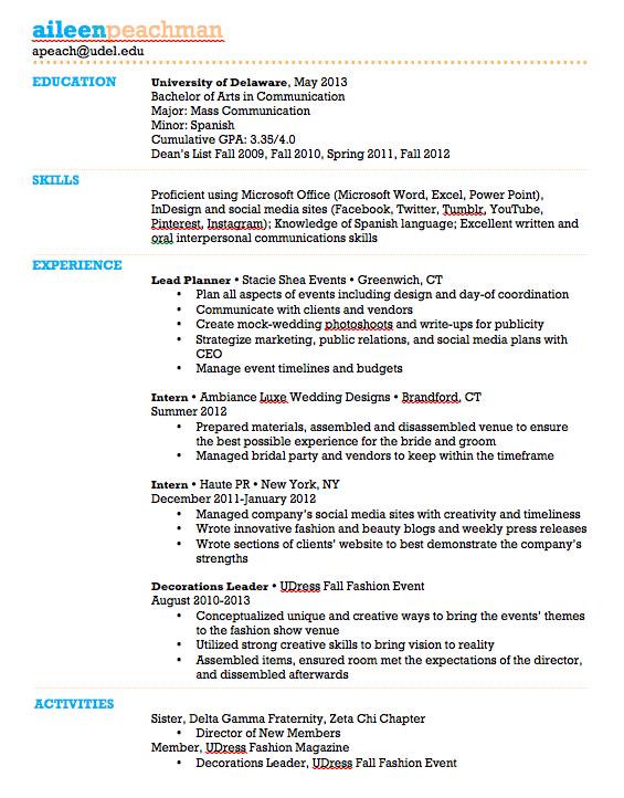 My Resume Resume Social Media Communications Eventplanning Social Sites Mass Communication My Resume