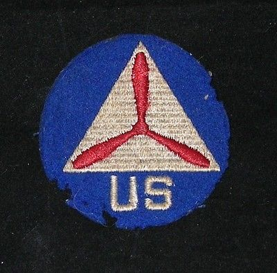 WWII U.S.A. Civil Air Patrol Patch wool original very old