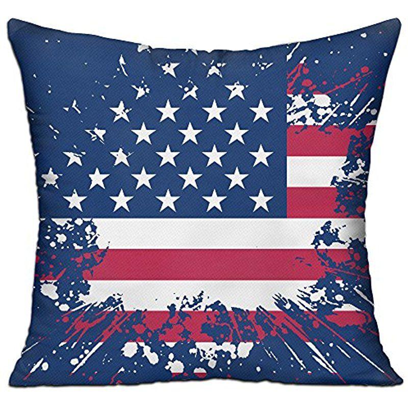 American Flag Decorative Home Leisure Pillow Case Square Throw Delectable American Flag Decorative Throw Pillow
