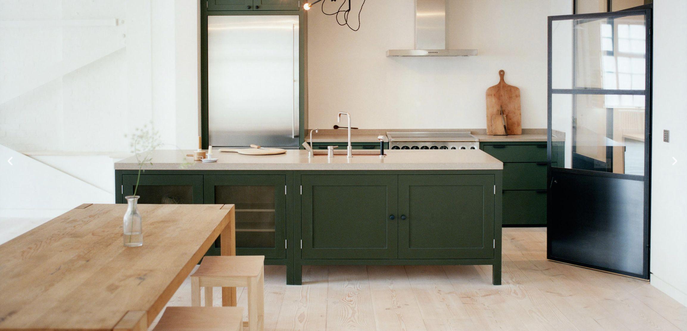 Pin By Rita Konig Ltd On Art Dark Green Kitchen Kitchen Renovation Trends Green Kitchen Island
