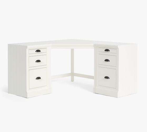 Aubrey Corner Desk With File Cabinets Corner Desk File Cabinet Desk Filing Cabinet White desk with file cabinets