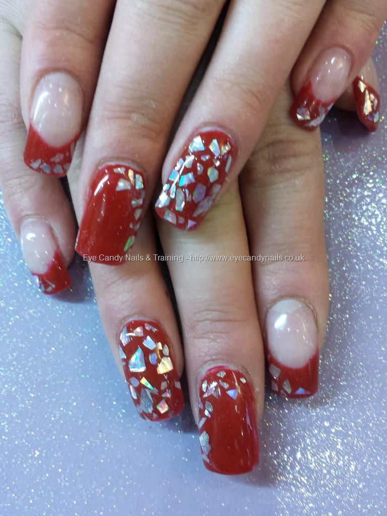 Kiss in paris gel polish with mirror chips
