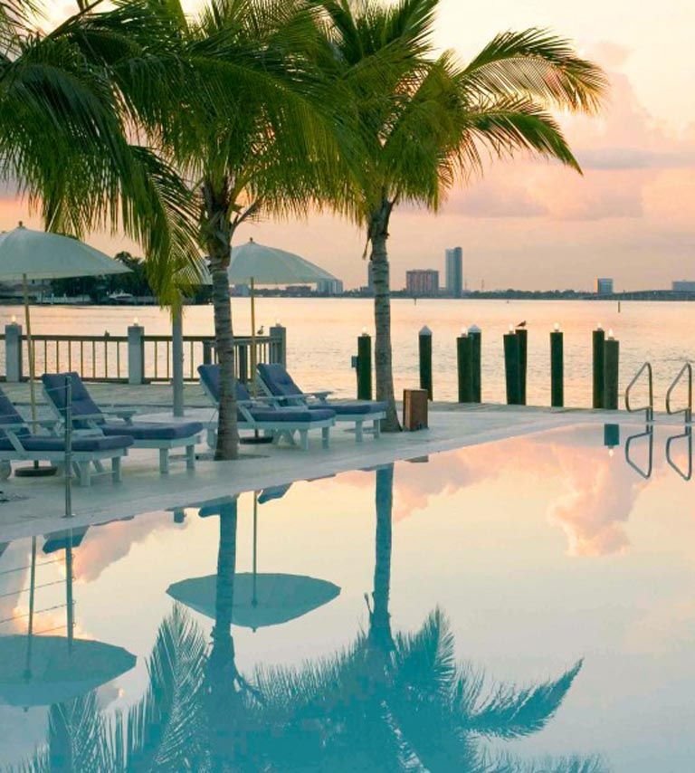 The Standard is the ultimate spa retreat in South Florida and has quite possible our favorite pool. Can you really beat an Infinity pool with an underwater soundsystem and a view like this? We dare you to try. (No, really---the world will only benefit!)