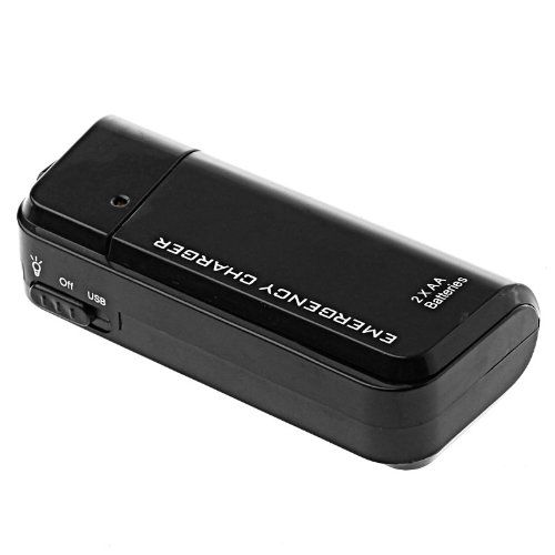 Portable Usb Emergency Aa Battery Powered Charger With Flashlight For Cellphone Iphone Ipod Mp3 Mp4 Player B Cell Phone Charger Emergency Flashlight Flashlight
