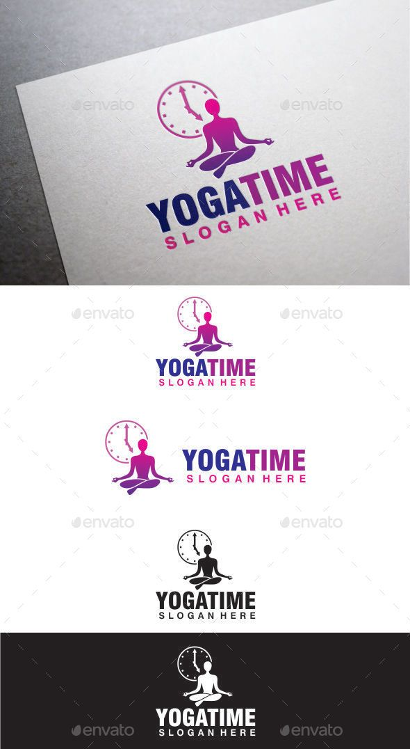 Yoga time logos fonts and logo design template yoga time logo design template vector logotype download it here http stopboris Gallery