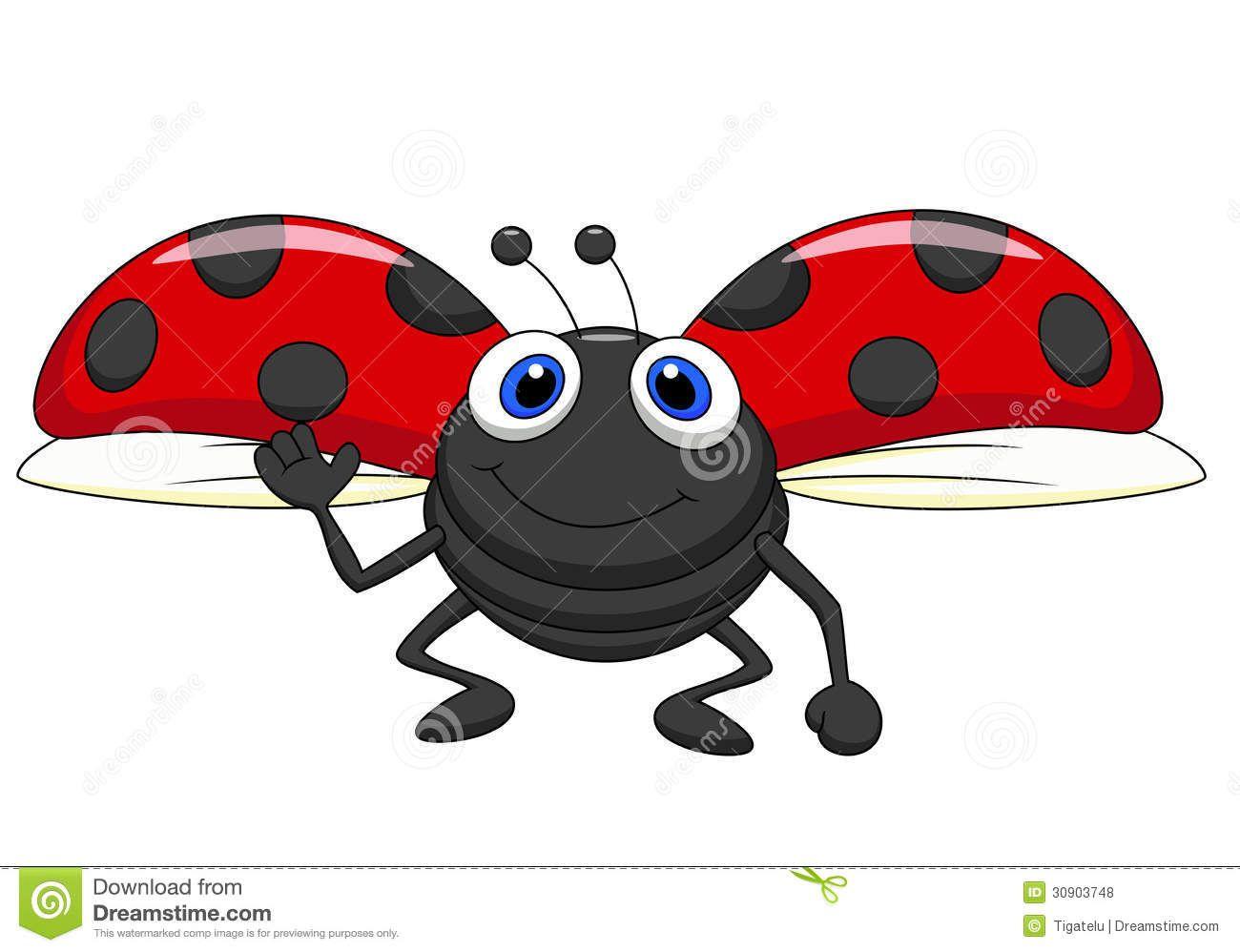 Cute Ladybug Cartoon Flying Royalty Free Stock Photos Image