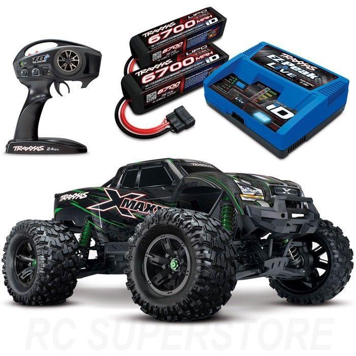 New Traxxas X Maxx 8s 4wd Brushless Rtr Truck Green W 6700mah 4s Batts Charger 20334775115 Ebay Rc Cars Monster Trucks Traxxas