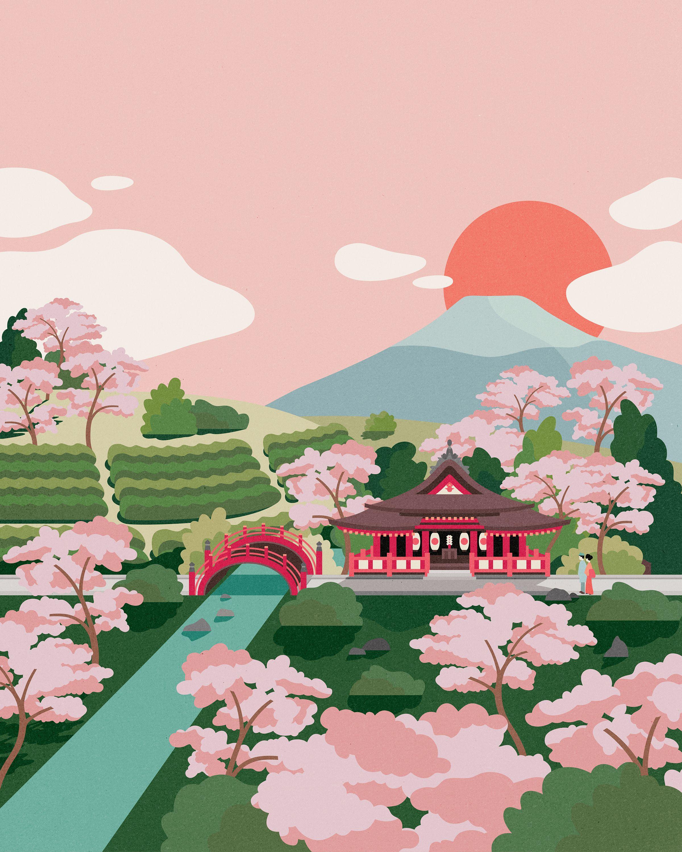 Pure Tea Packaging Illustration Sencha Japan Japan Illustration Illustration Japanese Art