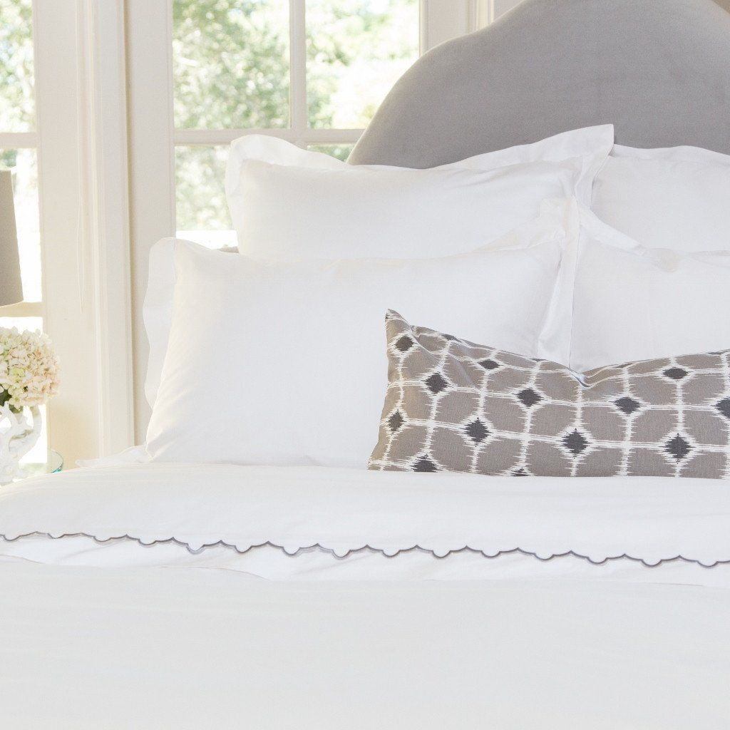 Bedroom inspiration and bedding decor   The Peninsula Soft White Duvet Cover   Crane and Canopy
