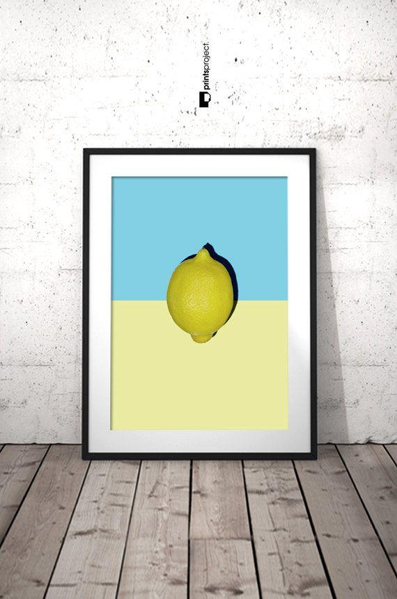 Citrus Wall Art, Kitchen Printable Decor, Lemon Wall Decor, Lemon ...