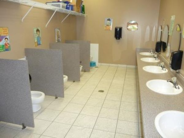 Great Layout For Preschool Bathroom The Separation Between The