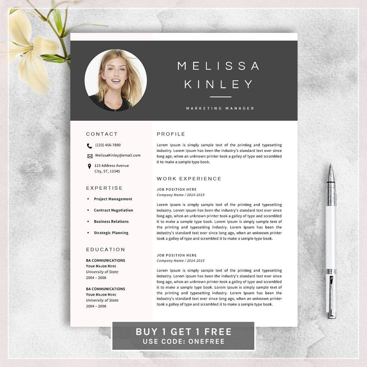 Creativo del resume modello di CV per MS di