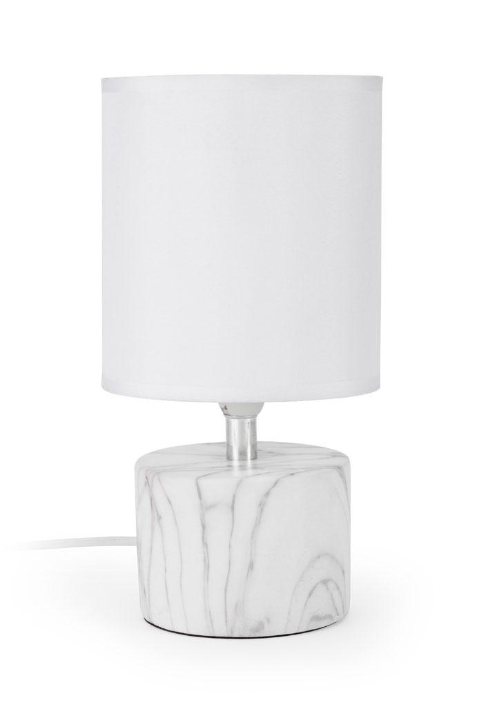 Lampe Kenza Mathias Coton Blanc 40 W Leroymerlin Marbre