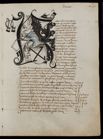 Basel, Universitätsbibliothek, AN II 3, p. 61r – Matriculation Register of the Rectorate of the University of Basel, Volume 1 (1460-1567)