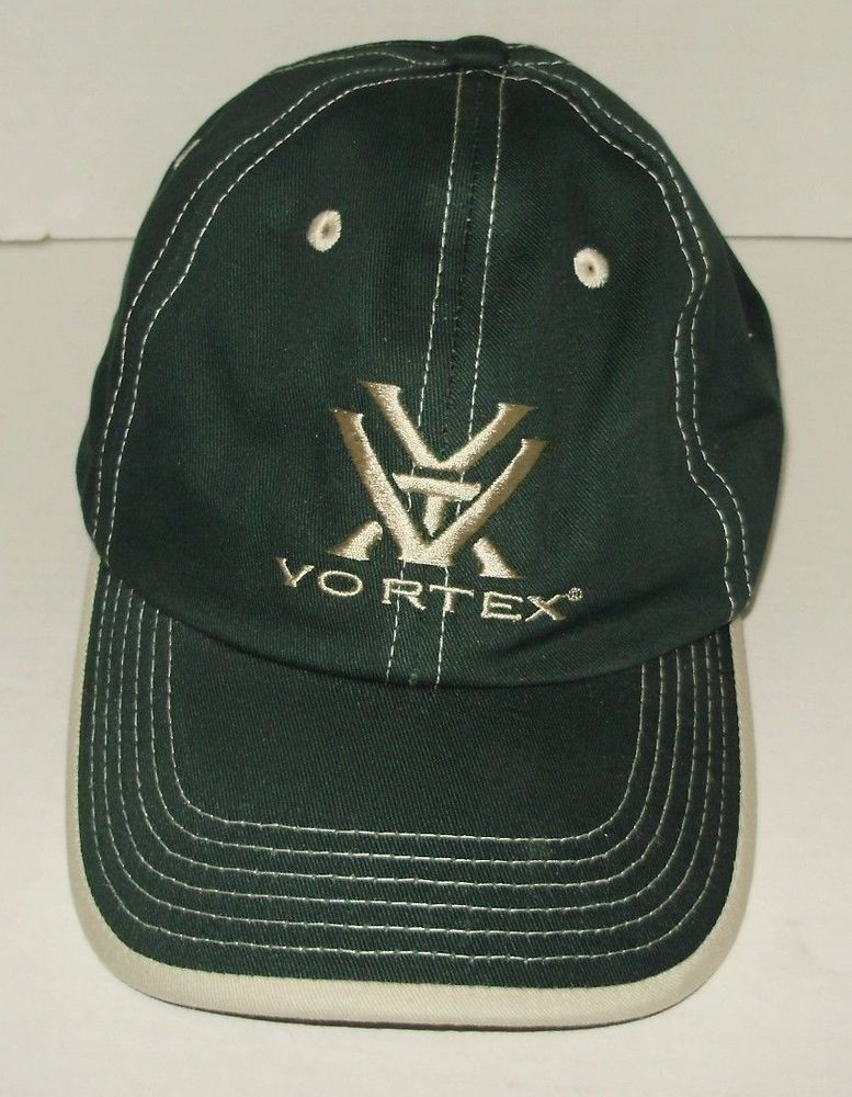 Vortex The Force of Optics Adjustable Hat Baseball Cap Green Tan Trim NEW  A81  Accent  BaseballCap e5d876671e3
