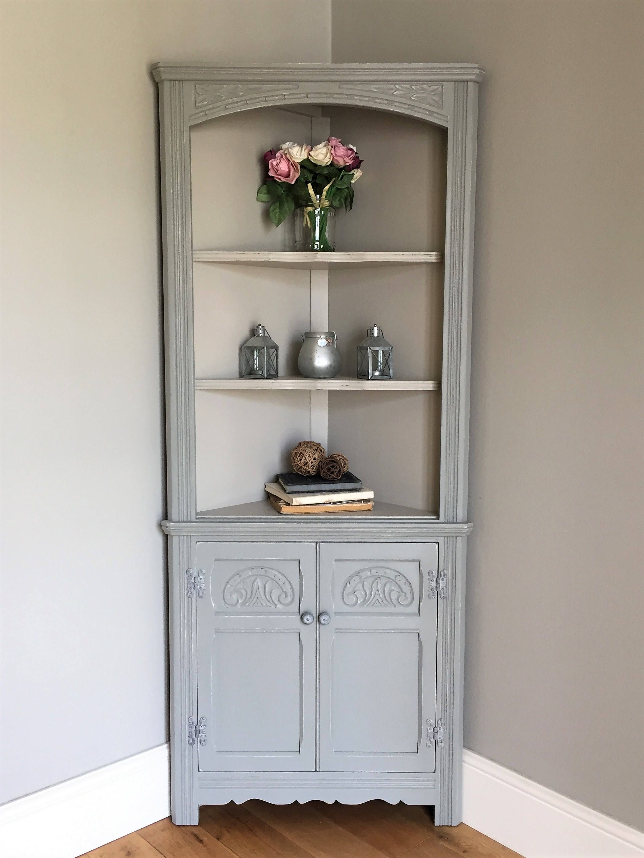 Vintage Old Charm Painted Corner Cabinet (delivery quote available ...