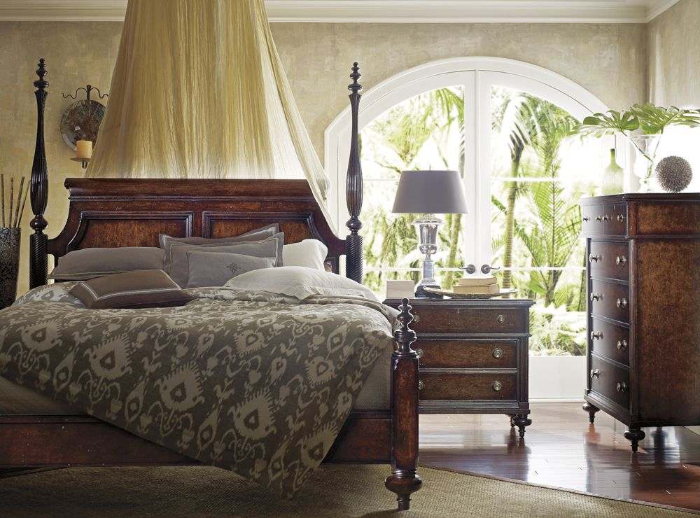 Lovely Stanley Furniture British Colonial Bedroom Set We Love The Added Drama Of The Canopy