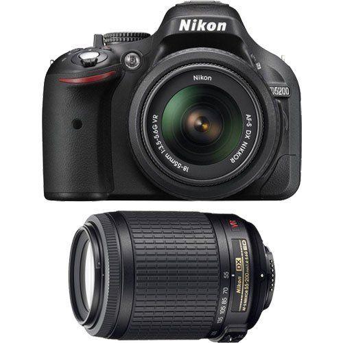 Nikon D5200 Digital Slr Camera 18 55mm G Vr Dx Af S Zoom Lens Black With 55 200mm Vr Zoom Nikkor Lens Best Digital Slr Camera Nikon D5200 Vr Lens
