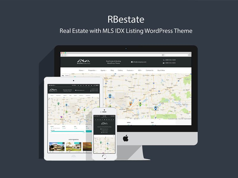Real Estate with MLS IDX Listing WordPress Theme   Real estate, Real ...