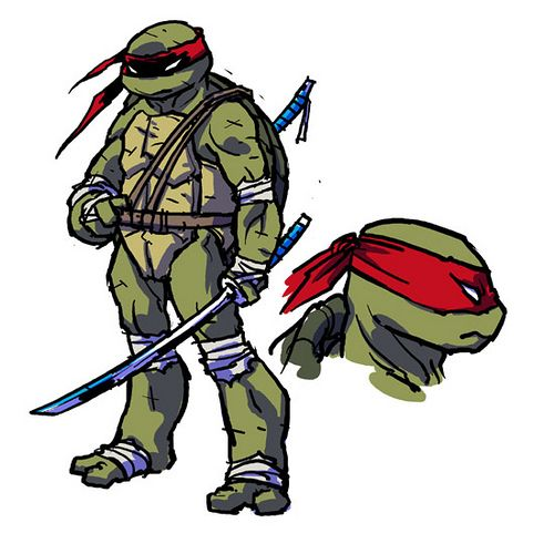 "ross campbell TURTLE ART | ... Turtles MICRO-SERIES #4; LEONARDO // ""LEO"" ..concept art by Ross"