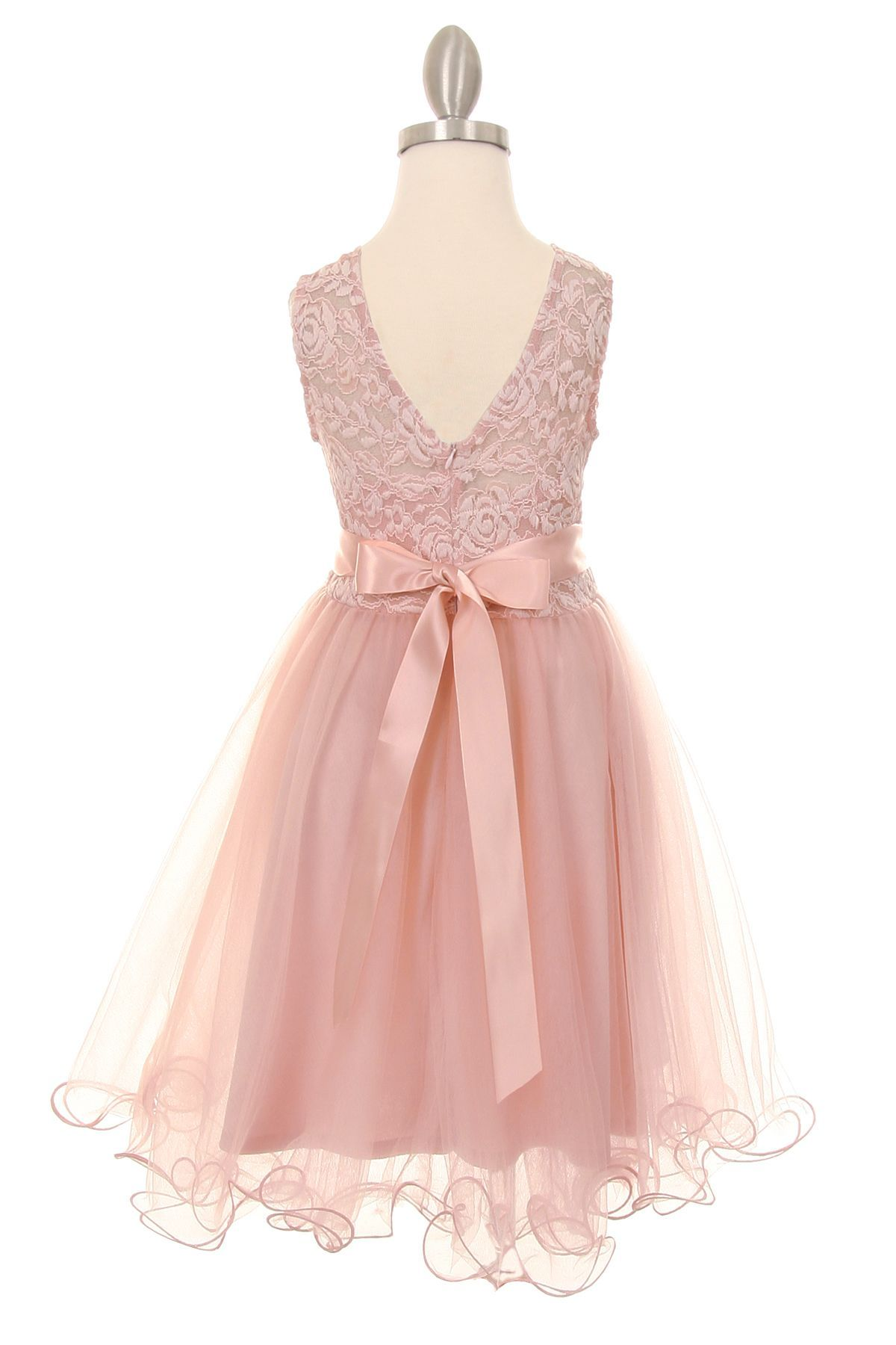 Emily Soft Lace Flower Girl Dress In Blush Pink Pinterest Lace