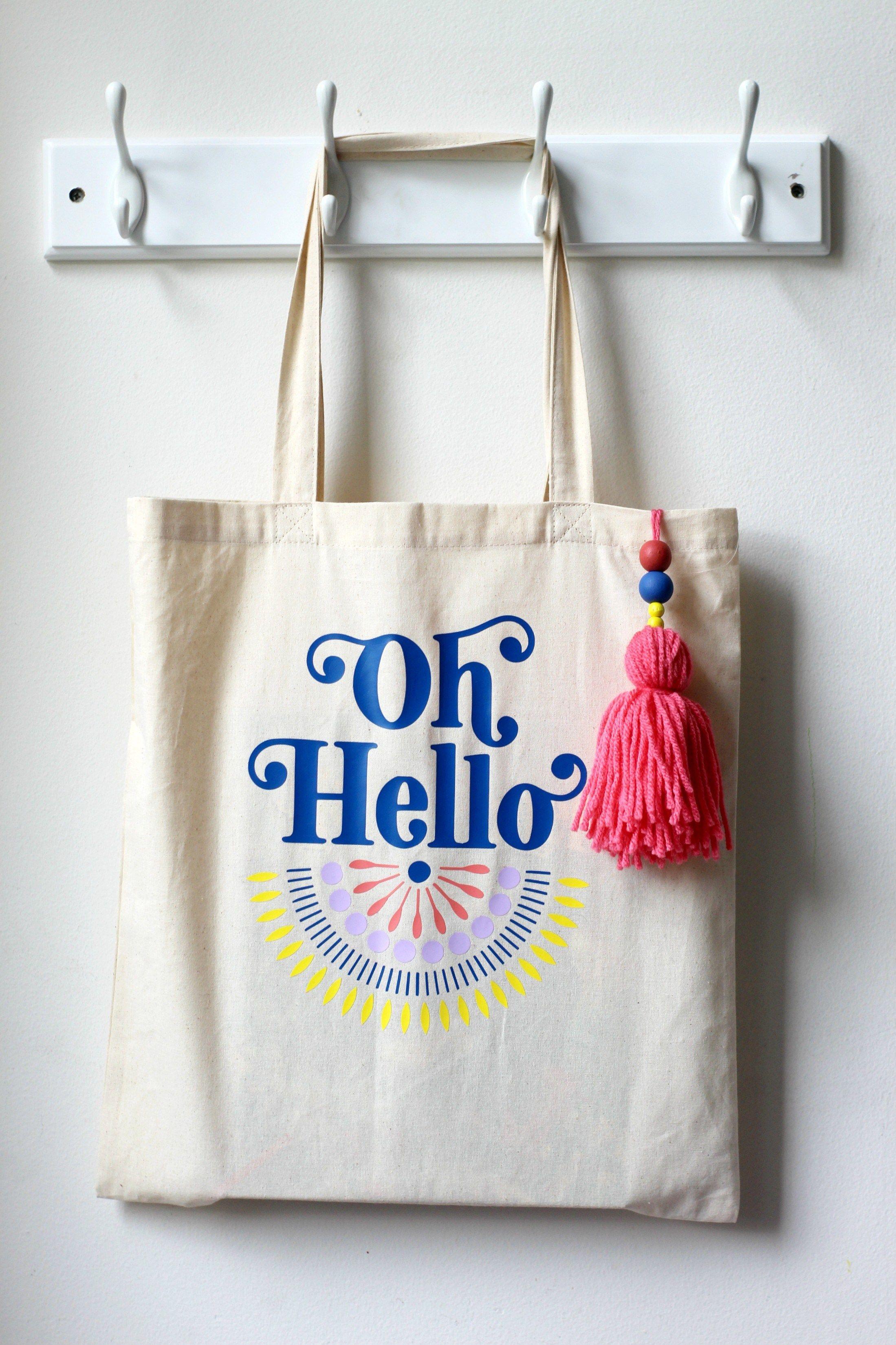 DIY Oh Hello Tote Bag  87afada6b2a45