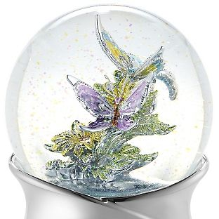 Hand Painted Butterfly Water Globe at Things Remembered