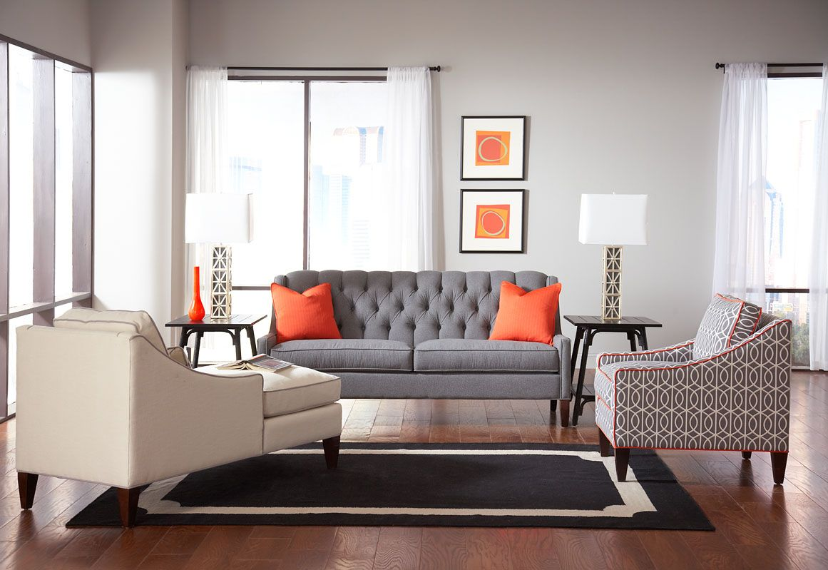 This is the Luxe Living vignette with my tufted Merrill sofa and my ...