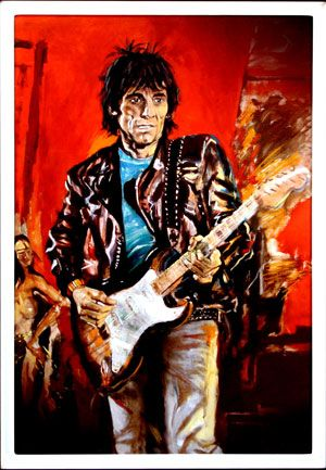 Backstage Auctions to auction off signed Ron Wood artwork on http://www.goldminemag.com