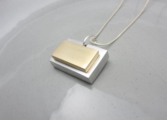 Minimalist Necklace Geometric Necklace Industrial Necklace Mixed