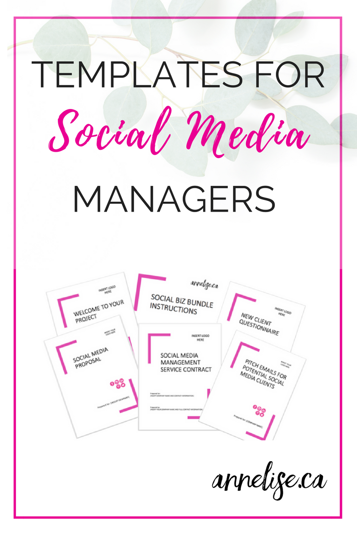 Social Media Manager Template Package Social Biz Bundle Etsy Marketing Strategy Social Media Social Media Management Business Social Media Measurement
