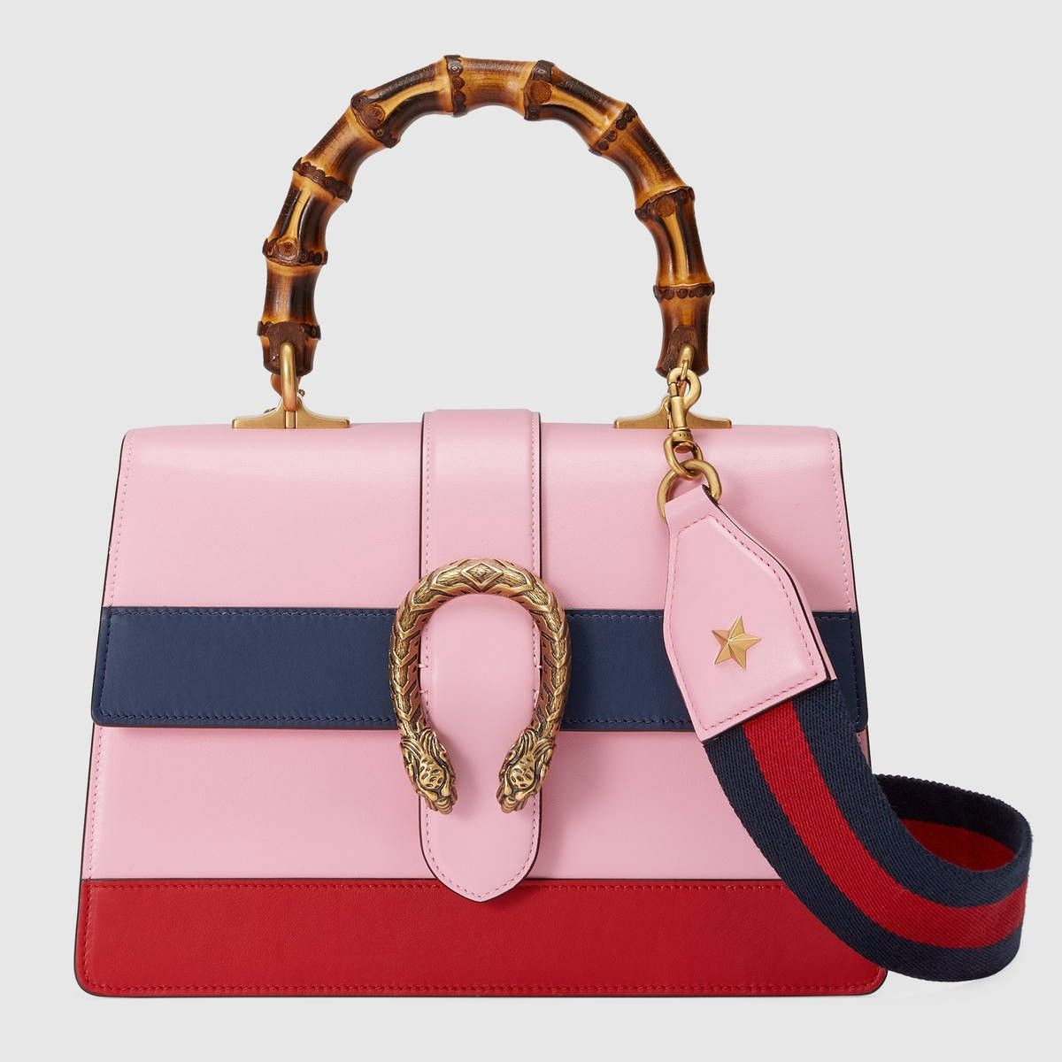5cf4d3716784 GUCCI Dionysus leather top handle bag - pink/blue/hibiscus red leather. # gucci #bags #leather #lining #shoulder bags #linen #hand bags #cotton #
