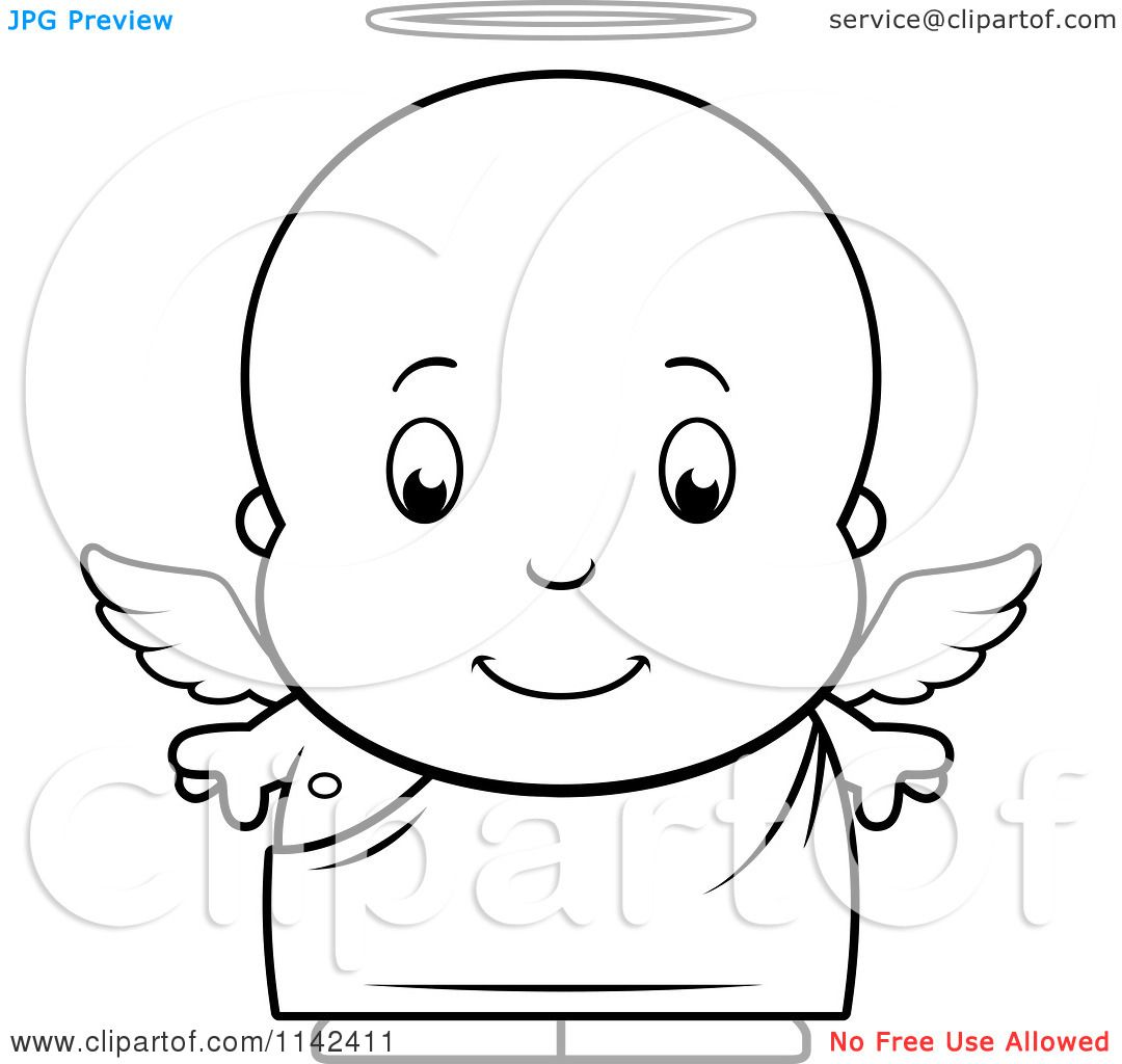 Baby Boy Coloring Pages Cartoon Clipart Of A Black And