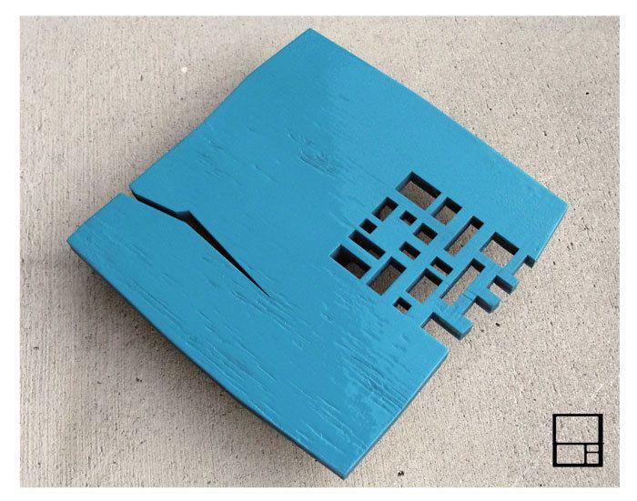 MSTRF AD Rustic Blue 30 x30 COFFEE Table in Warm Blue by MSTRF