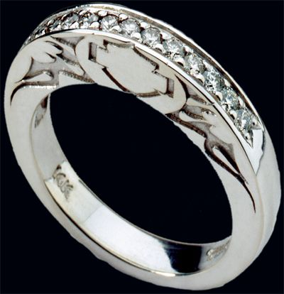 men who are interested in wearing a modern wedding ring will always have a vast palette - Biker Wedding Rings