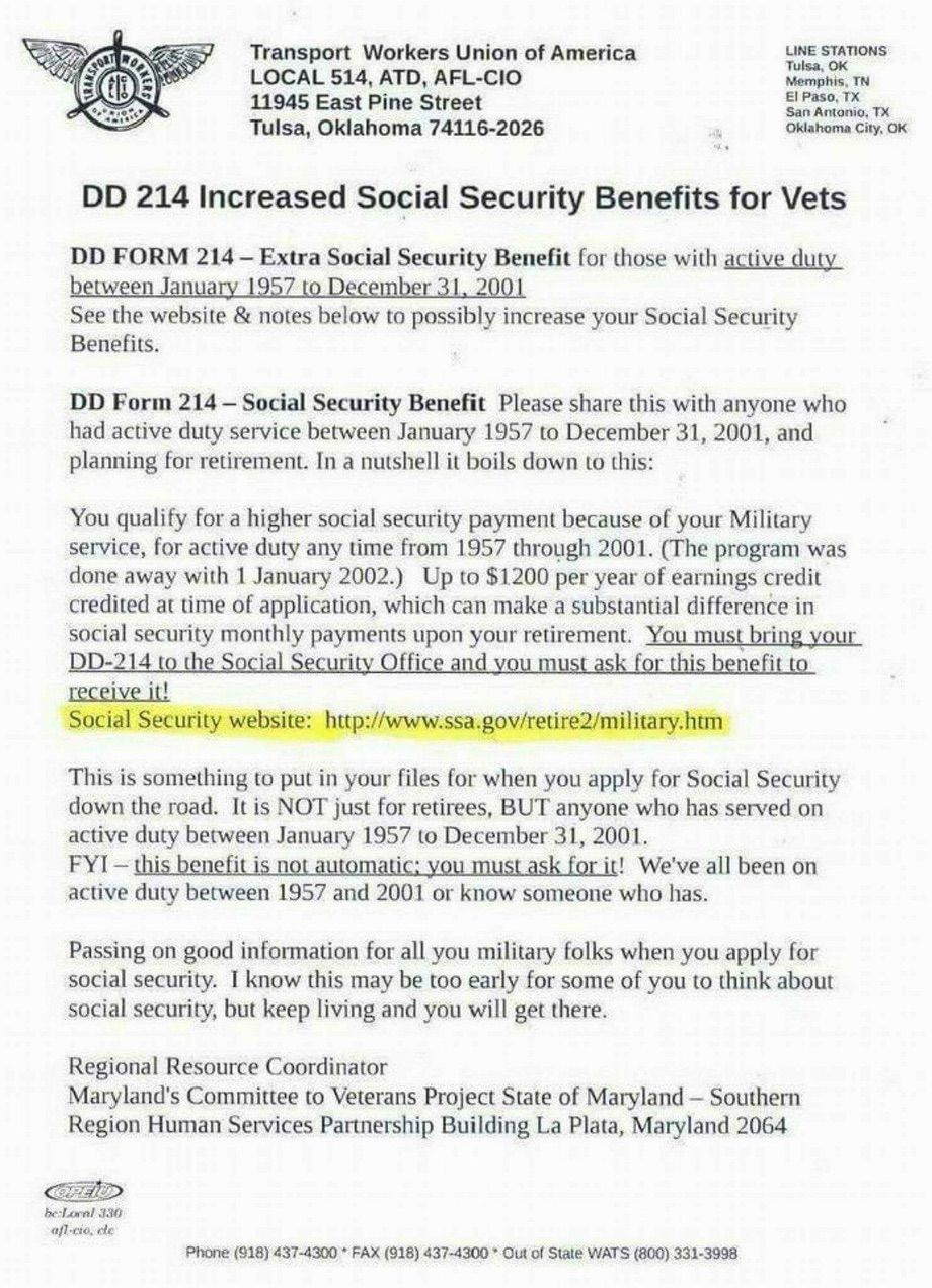 Increased Social Security Benefits For Vets HttpsWww