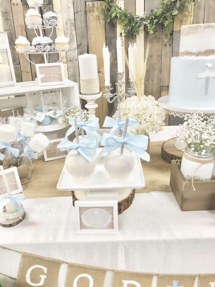 Rustic Communion First Communion Party Ideas  Photo 10 of 10