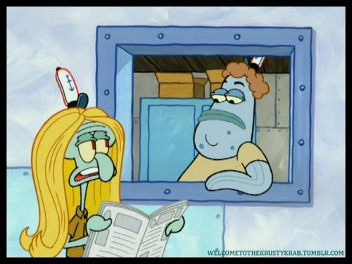 Who Wouldve Thought Squidward Was Blonde P From Spongebob 502a