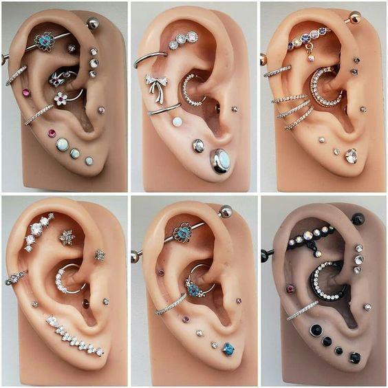 14 Cute and Beautiful Ear Piercing Ideas For Women - Biseyre #earpiercingideas