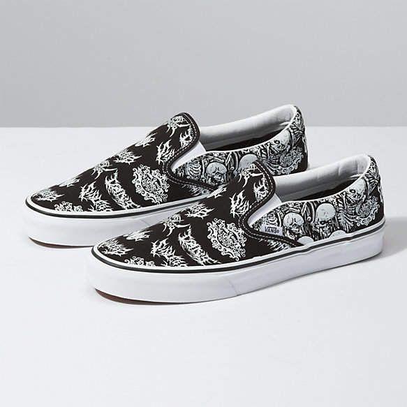 Forgotten Bones Slip On   Classic shoes, Slip on shoes