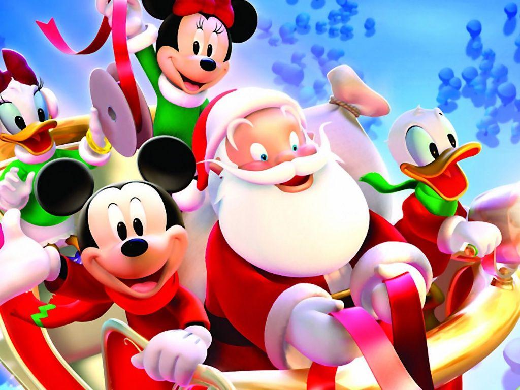 A Disney Christmas! Santa, Mickey Mouse, Donald Duck and
