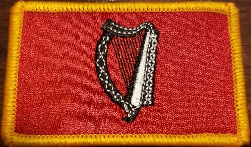 IRELAND FLAG embroidered iron-on PATCH IRISH EMBLEM REPUBLIC EIRE applique NEW