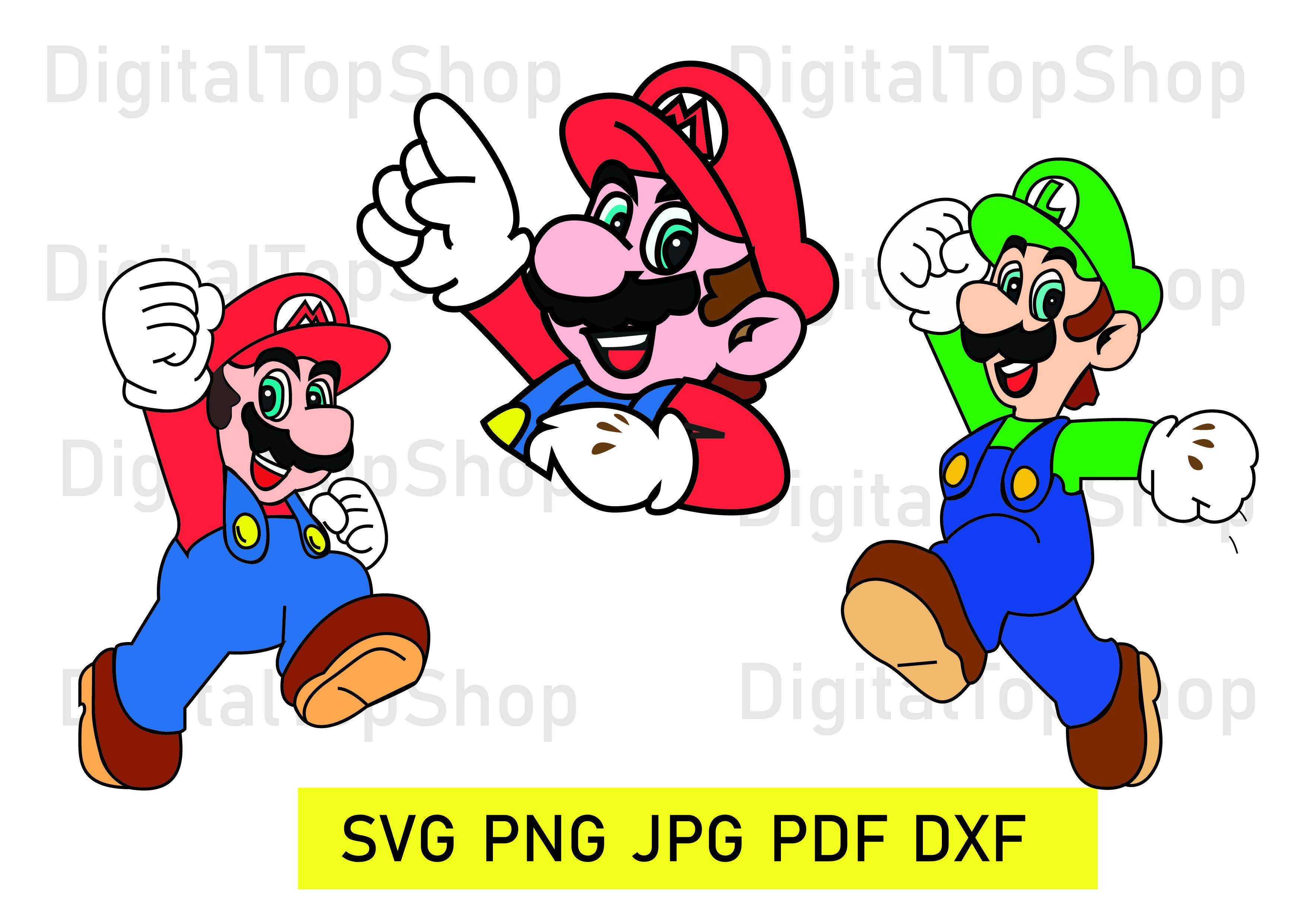 USD 1.40 super mario mario clipart vector character