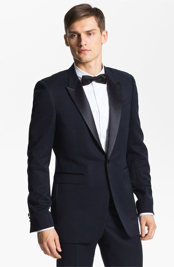 782be9b3b Burberry Prorsum Peak Lapel Tuxedo Jacket (Navy). Something blue ...