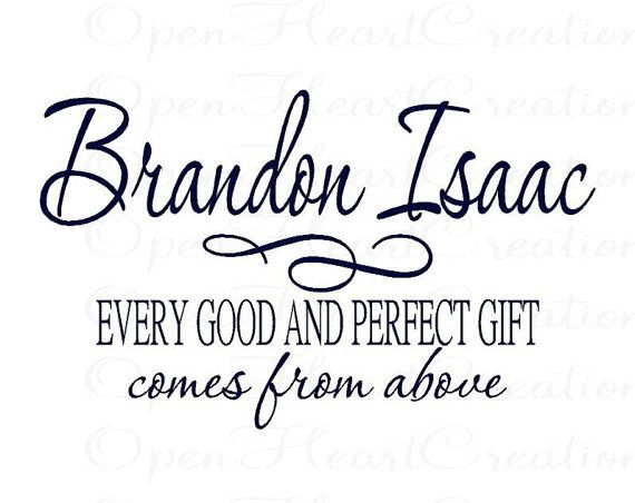 Every Good and Perfect Gift Vinyl Wall Decal by openheartcreations, $45.00