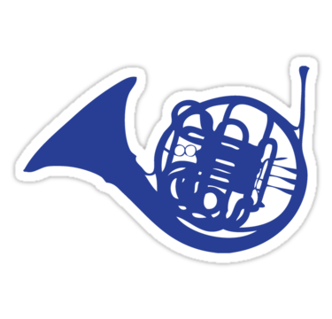 Blue French Horn Sticker By Ben Holmes Adesivos Sticker Cartela De Adesivos Adesivos Legais