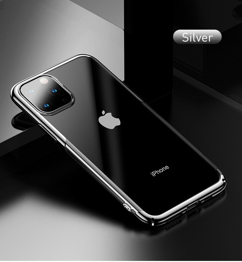 Electroplating arc edge hard pc case for iphone 11 pro max