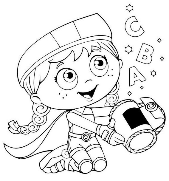 Do You Love Super Why- Then This Coloring Picture Is For Your Children.  Coloring Page Is For Adults, Boys And Gir… Super Why, Super Coloring Pages,  Coloring Books