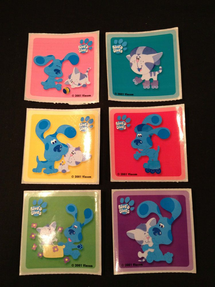 Lot Of 6 Blue S Clues Stickers Good Size Blue Friends More Blues Clues Stickers Blues