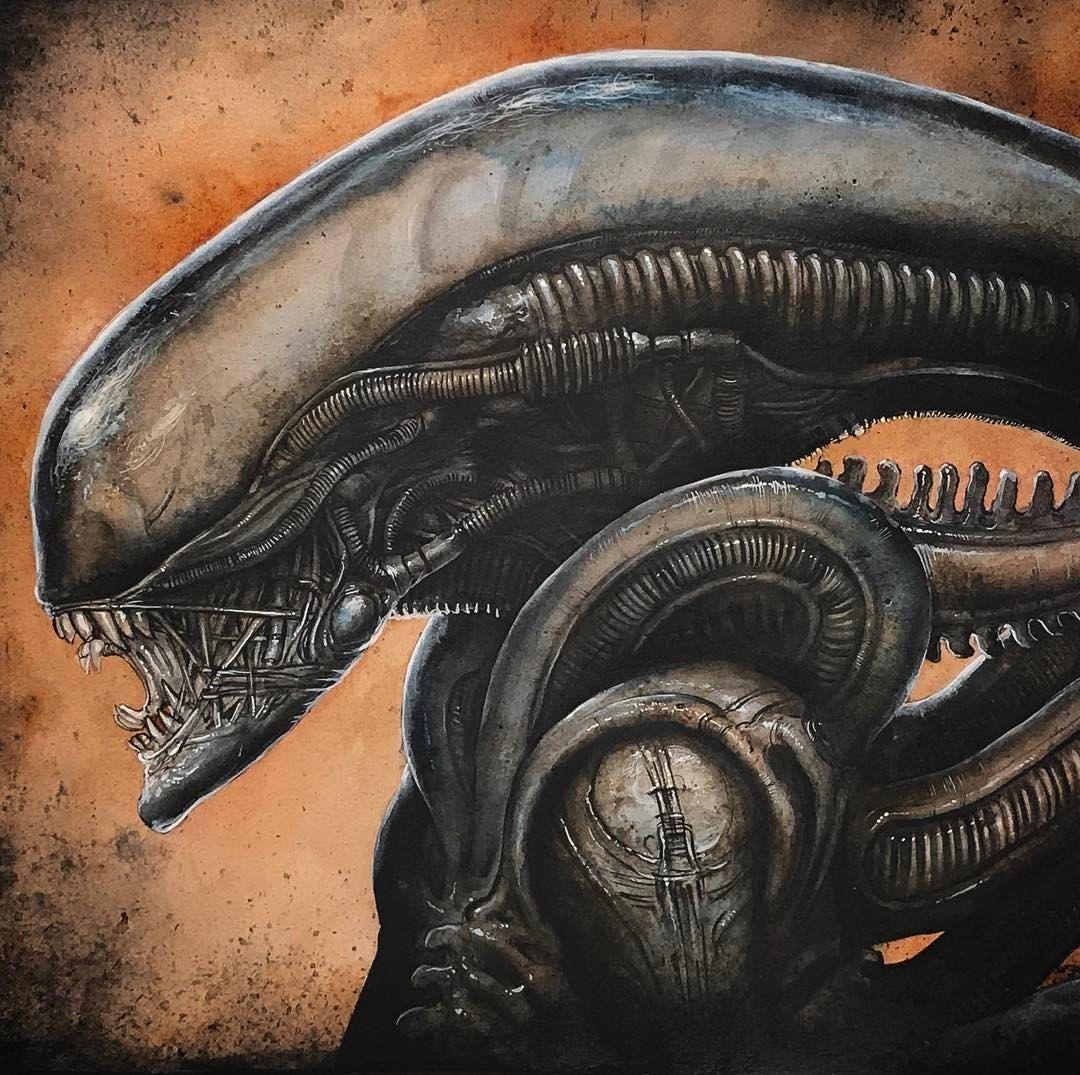 Pin by Tyler Pulley on Aliens Giger alien, Alien artwork